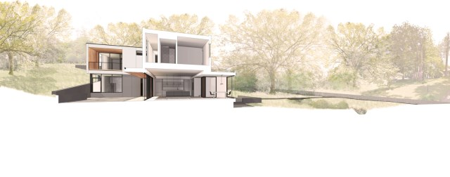 Two storey modern house 2 tone and relaxing vacation home (7)