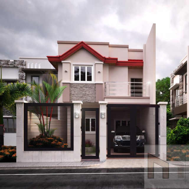Two-story house elegant shape 2 bedrooms (5)