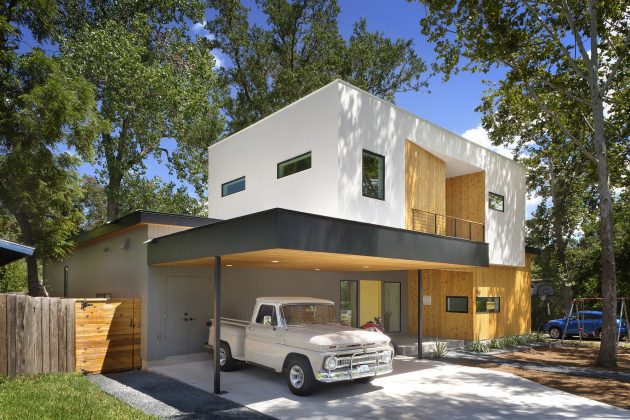 Villa large Modern Style Decorated with wood steel glass (11)