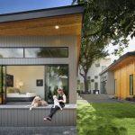บ้านวิลล่าขนาดใหญ่ สไตล์โมเดิร์น ตกแต่งด้วยงานไม้ เหล็ก กระจก ท่ามกลางสวนหย่อมสมัยใหม่