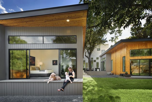 Villa large Modern Style Decorated with wood steel glass (14)