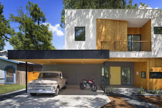 Villa large Modern Style Decorated with wood steel glass (15)