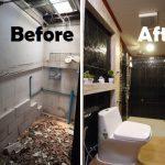 Review : รีโนเวทห้องน้ำแคบๆ กลายเป็นห้องน้ำใหม่สุดปิ๊ง รับแขกได้ไม่มีอาย