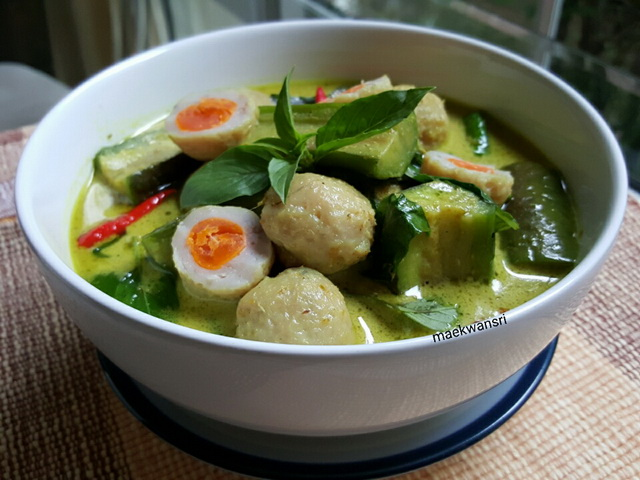 green curry fish ball with salted egg recipe (7)