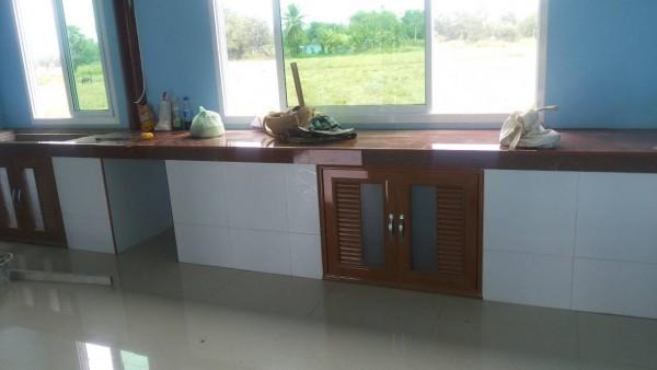 half wood half concrete thai rural house (17)