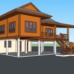 Review : บ้านครึ่งปูนครึ่งไม้ สไตล์ชนบท ดีไซน์ดั้งเดิมแบบไทยๆ  เหมาะสร้างไว้ใกล้ชิดธรรมชาติ
