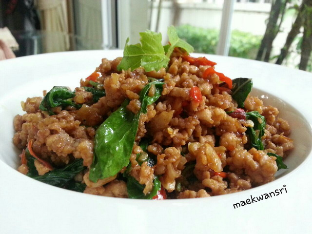 original fried basil with pork and rice recipe (1)