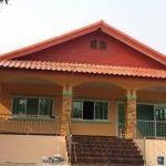 Review : บ้านไทยชนบทขนาดชั้นเดียว หลังคาทรงหน้าจั่ว สวยเรียบง่ายสไตล์บ้านนอก