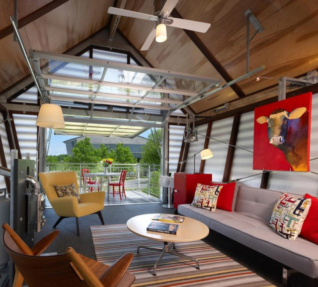 tiny Contemporary house studio style 1 bedroom in mezzanine  (1)