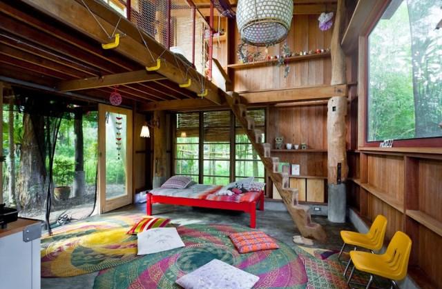 wooden Bunk House Modern Cabin Design (5)