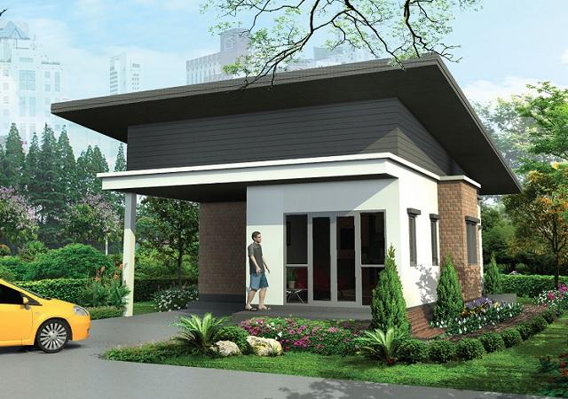 1 floor black modern house