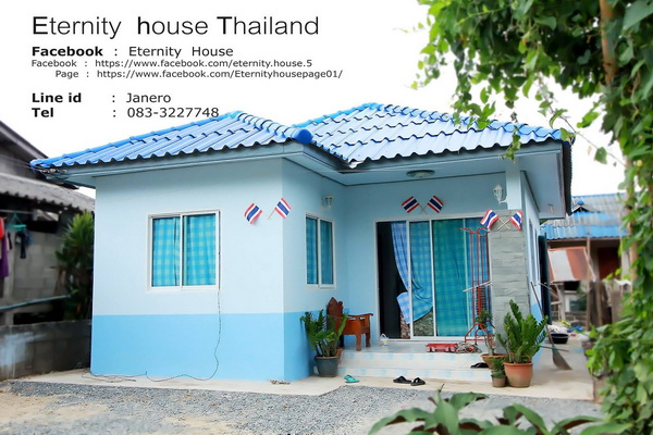 1 floor small blue house in 400k bht (1)