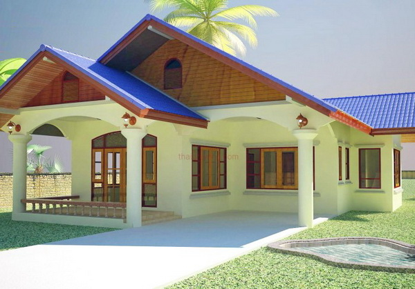 1 storey 3 bedroom thai contemporary house (1)