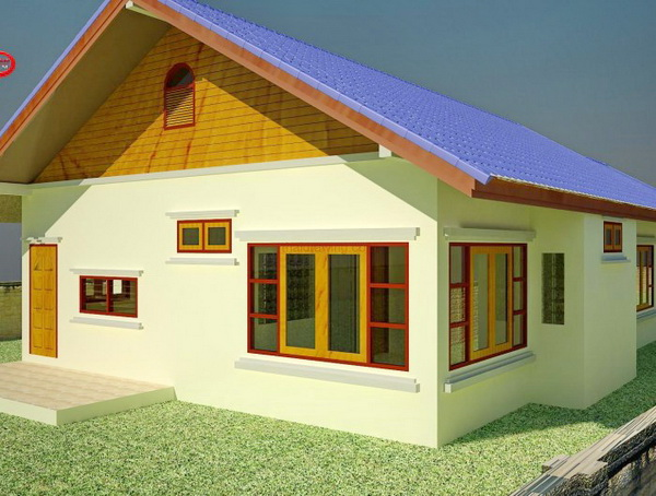 1 storey 3 bedroom thai contemporary house (2)
