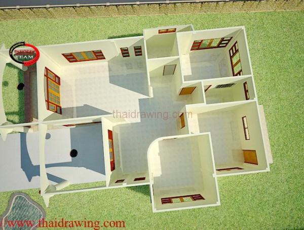 1 storey 3 bedroom thai contemporary house (3)