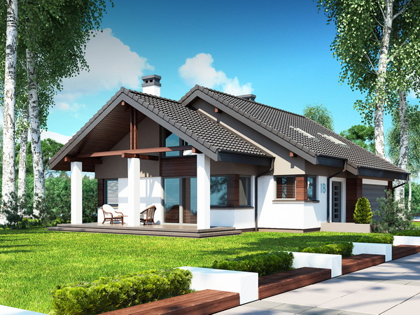 2 storeys white gable modern house (1)