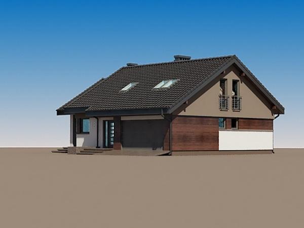 2 storeys white gable modern house (2)