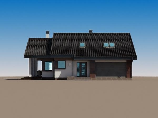 2 storeys white gable modern house (3)