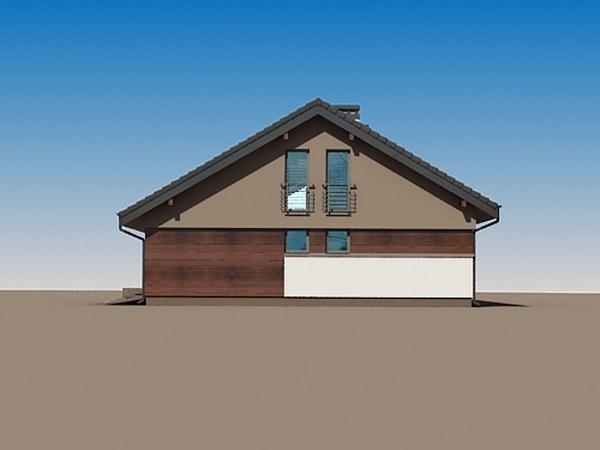 2 storeys white gable modern house (4)