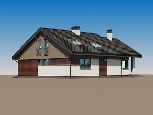 2 storeys white gable modern house (5)
