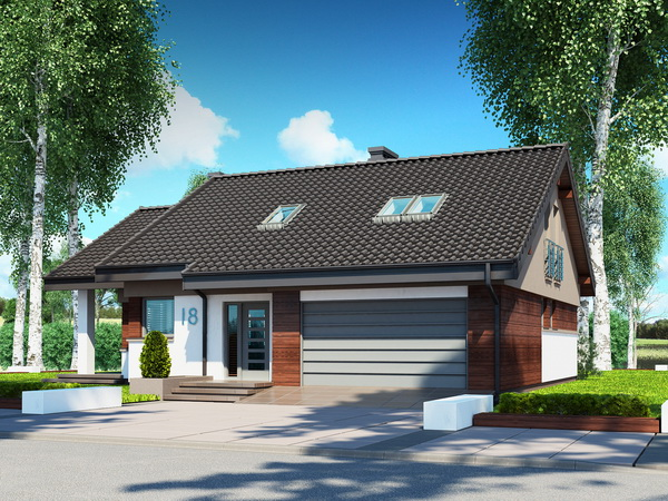 2 storeys white gable modern house (6)