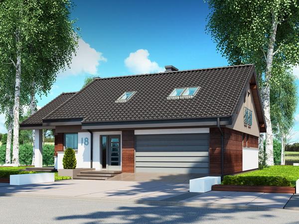 2 storeys white gable modern house (6)