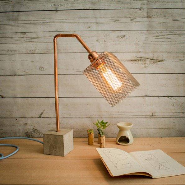 20 ideas lamp handmade designs industrial style (10)