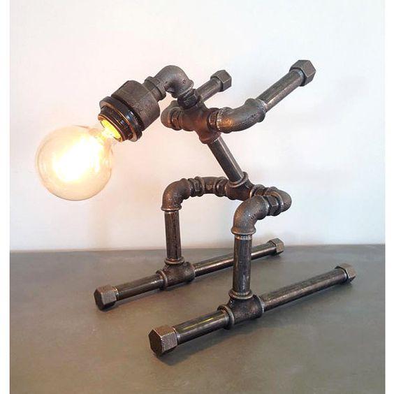 20 ideas lamp handmade designs industrial style (12)