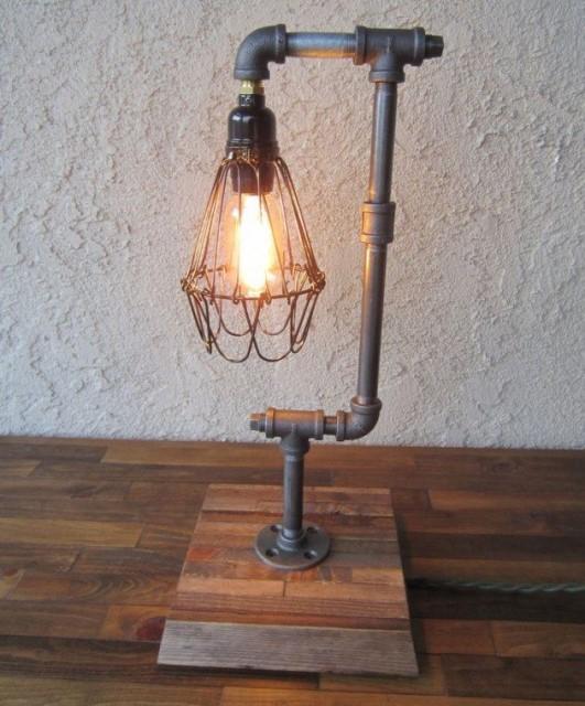 20 ideas lamp handmade designs industrial style (14)