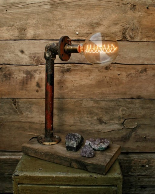 20 ideas lamp handmade designs industrial style (17)