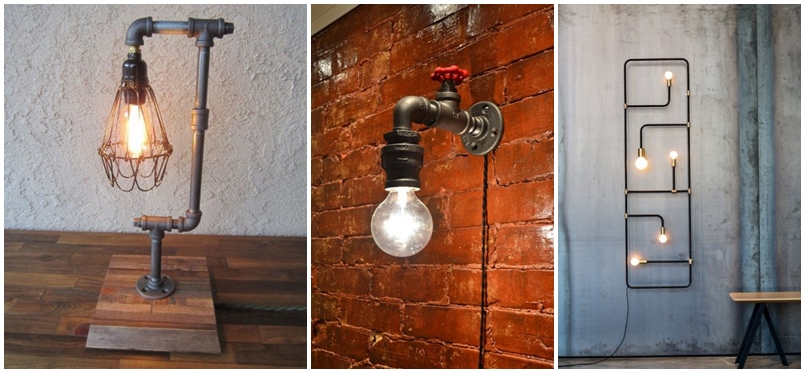 20 ideas lamp handmade designs industrial style (18)