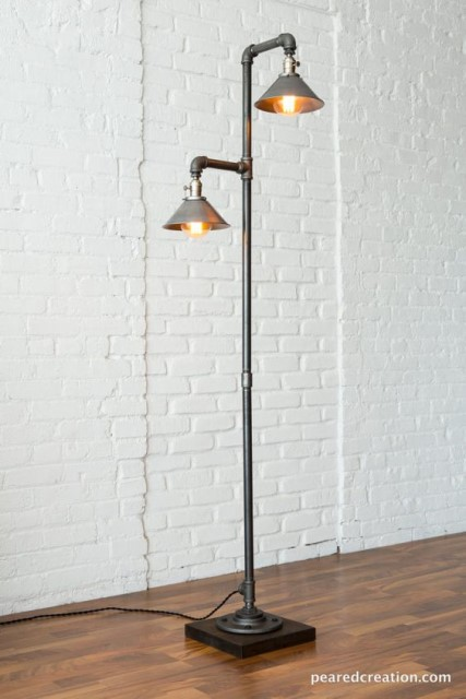 20 ideas lamp handmade designs industrial style (19)