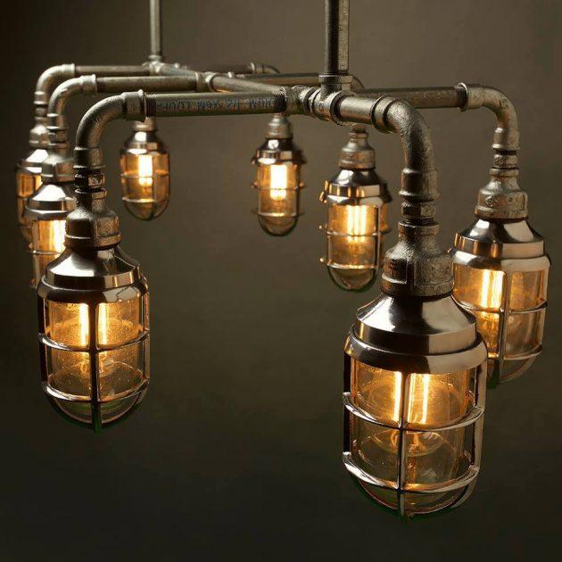 20 ideas lamp handmade designs industrial style (9)