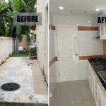 Review : ต่อเติมครัวหลังบ้านแถมห้องเล็กๆ สำหรับเก็บของ บนพื้นที่ขนาด 20 ตร.ม.