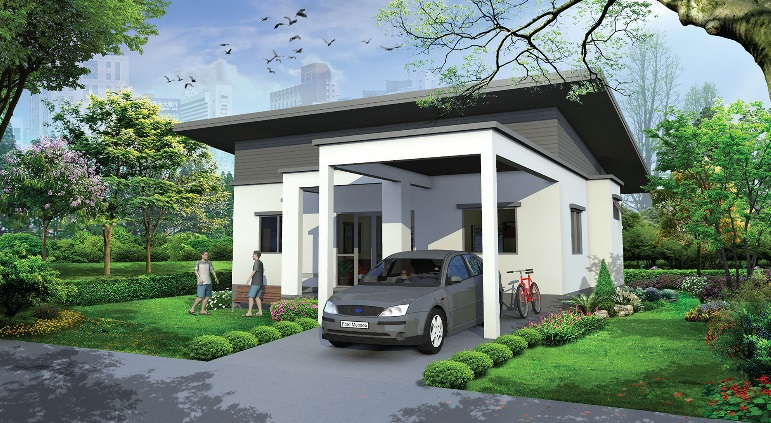 3 bedroom black white modern house 1