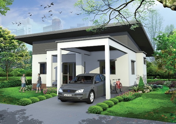 3 bedroom black white modern house 2