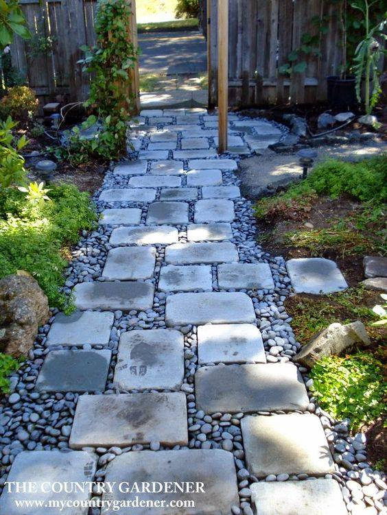 77 stone path ideas for gardening (10)