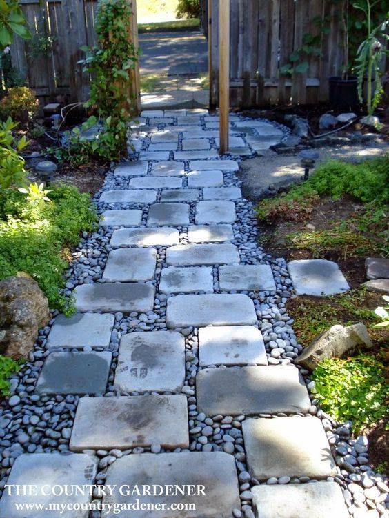 77 stone path ideas for gardening (10)