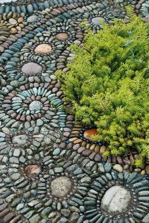 77 stone path ideas for gardening (11)