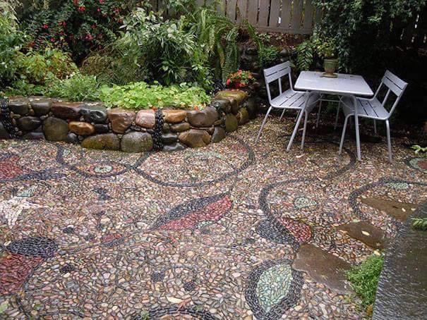 77 stone path ideas for gardening (13)