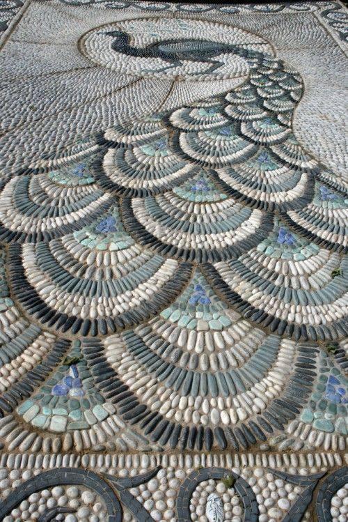 77 stone path ideas for gardening (14)