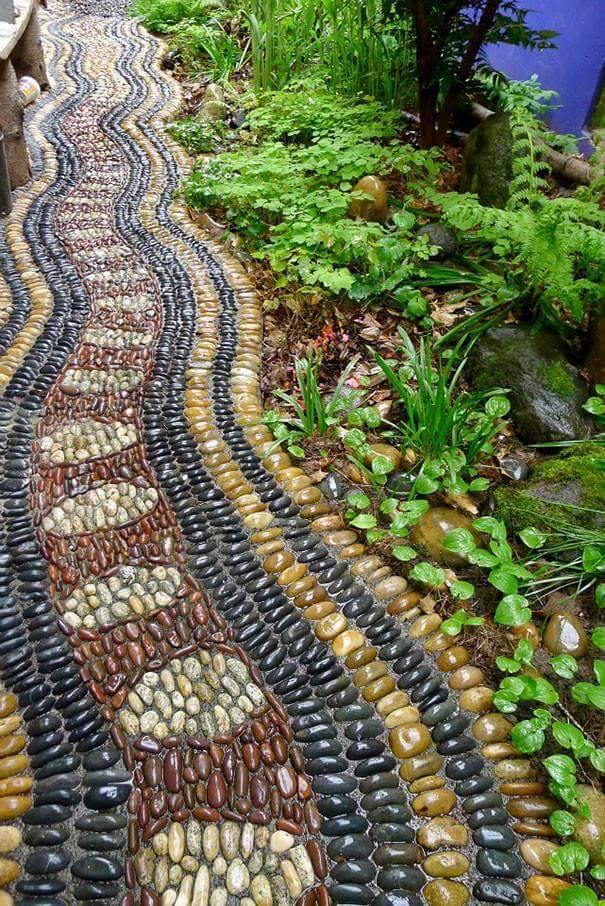 77 stone path ideas for gardening (15)