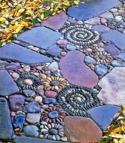 77 stone path ideas for gardening (19)