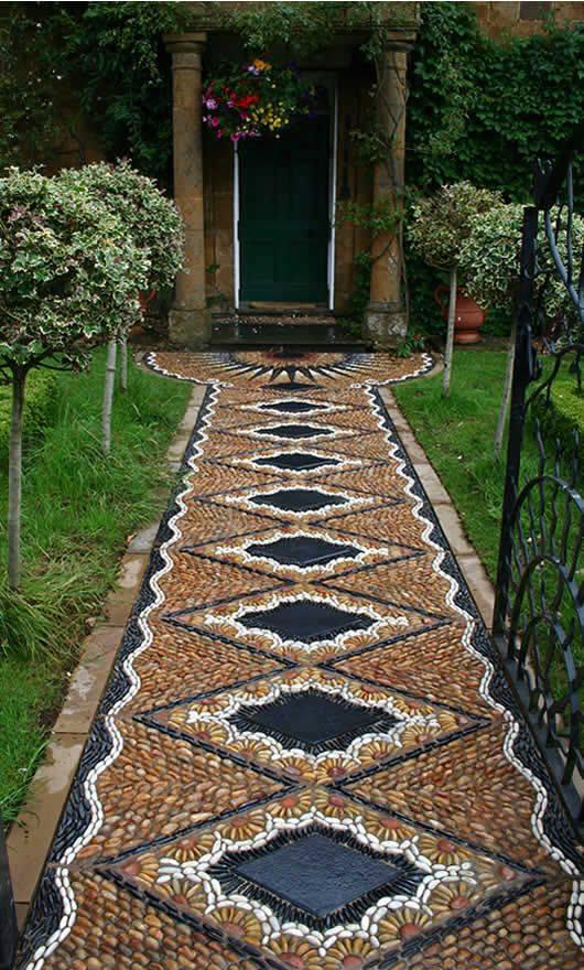 77 stone path ideas for gardening (2)
