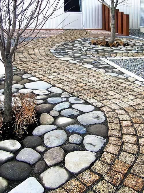 77 stone path ideas for gardening (21)