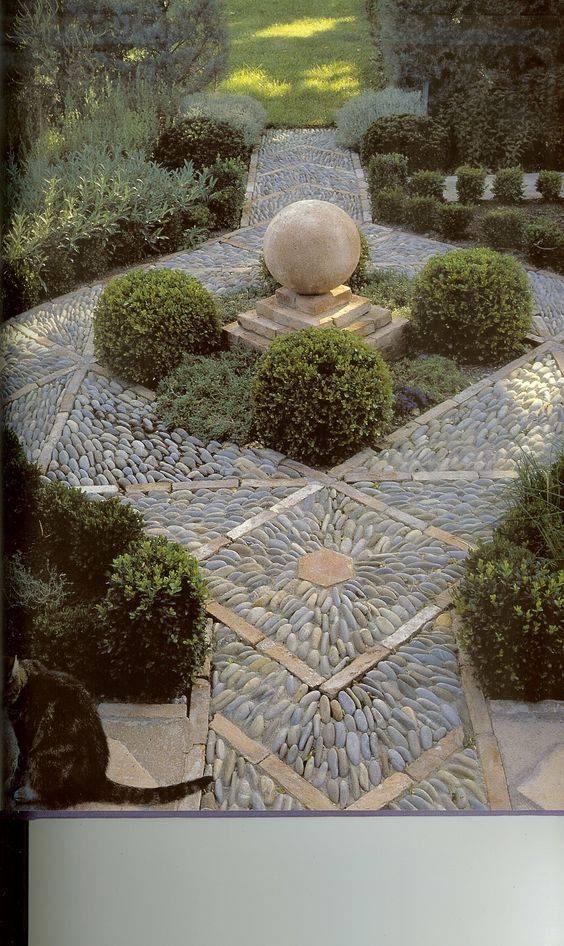 77 stone path ideas for gardening (23)