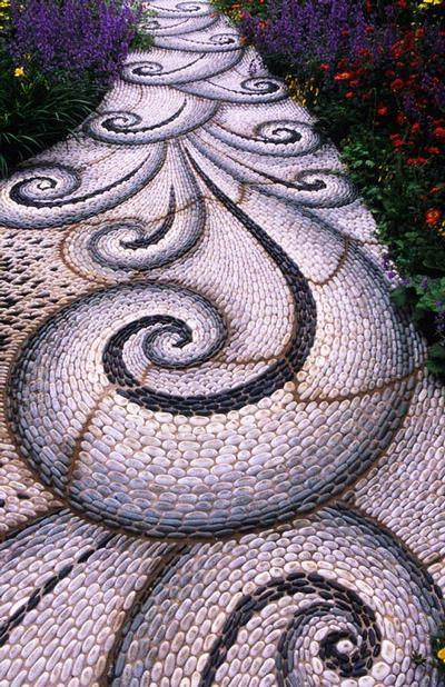 77 stone path ideas for gardening (29)