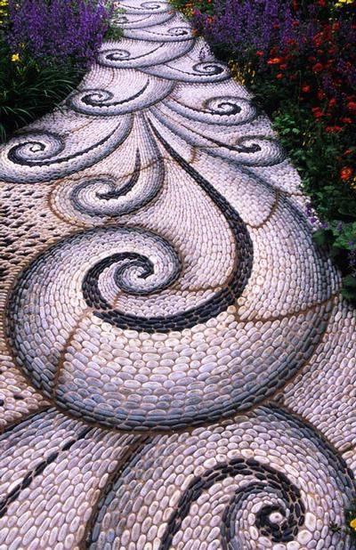 77 stone path ideas for gardening (29)