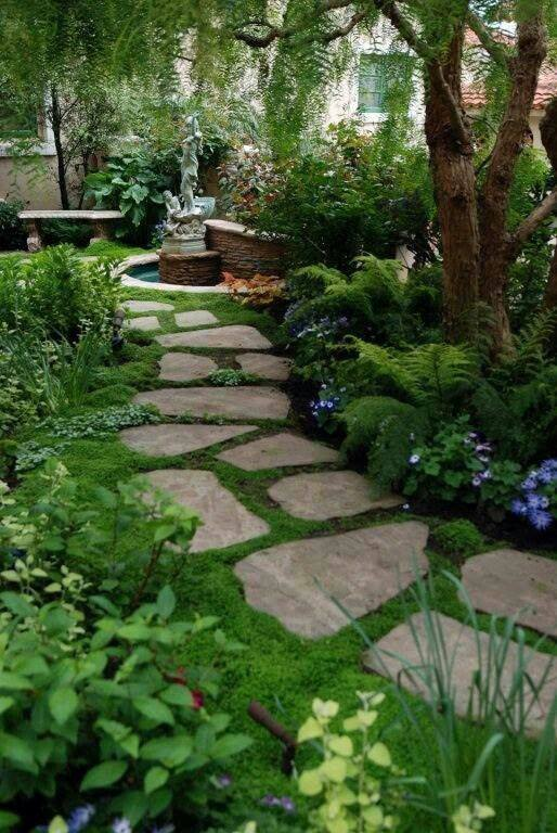 77 stone path ideas for gardening (3)