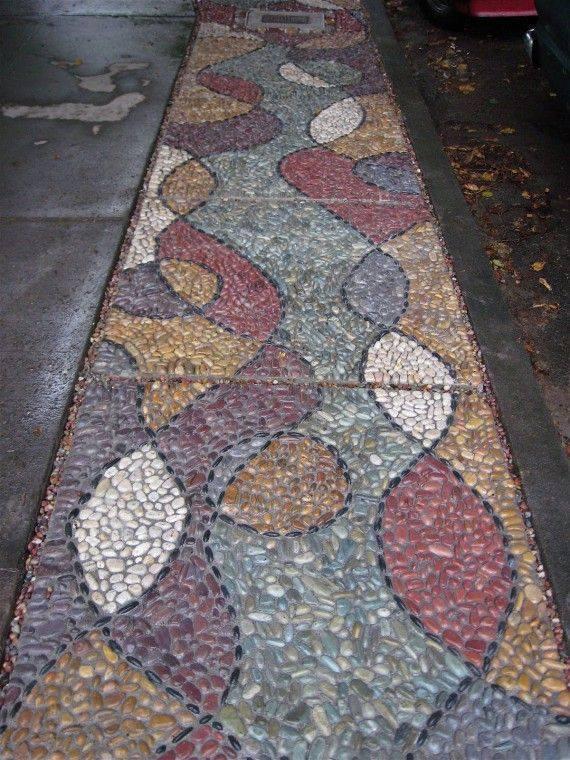 77 stone path ideas for gardening (30)